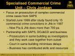 specialised commercial crime unit chris jordaan