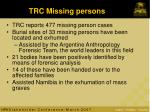 trc missing persons