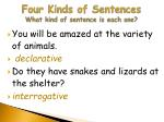 four kinds of sentences what kind of sentence is each one2