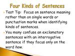 four kinds of sentences13