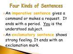 four kinds of sentences16