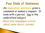 four kinds of sentences4