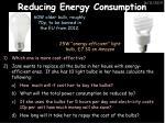 reducing energy consumption