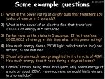 some example questions1