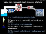 using non renewable fuels in power stations