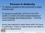 persons in authority