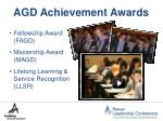 agd achievement awards