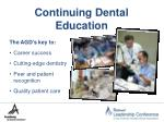 continuing dental education