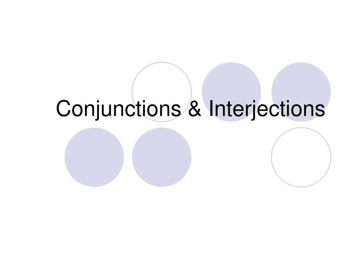 conjunctions interjections n.