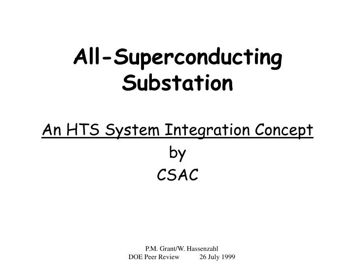 all superconducting substation n.