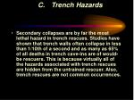 c trench hazards