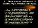 i there are four basic means of establishing a probable search area