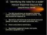 identifying the need for a water rescue response beyond the awareness level