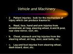 vehicle and machinery
