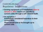 can csa b149 3 regulatory implications