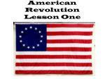 american revolution lesson one