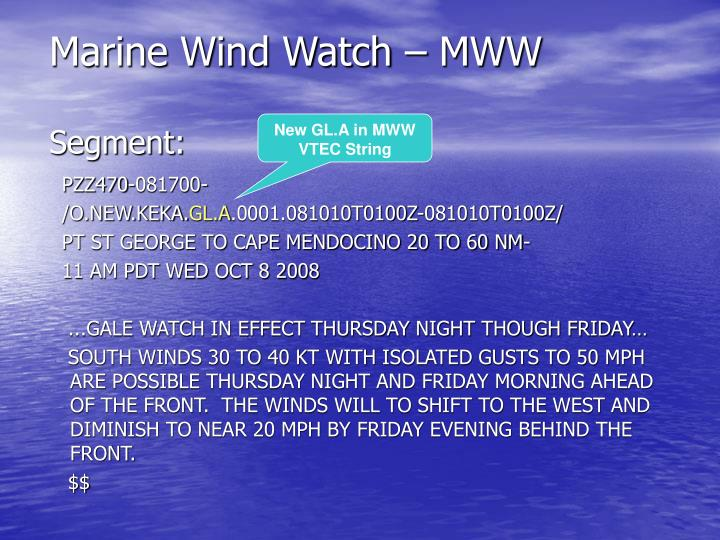 Marine Wind Watch – MWW