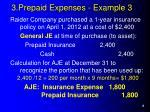 3 prepaid expenses example 3