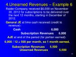 4 unearned revenues example 6