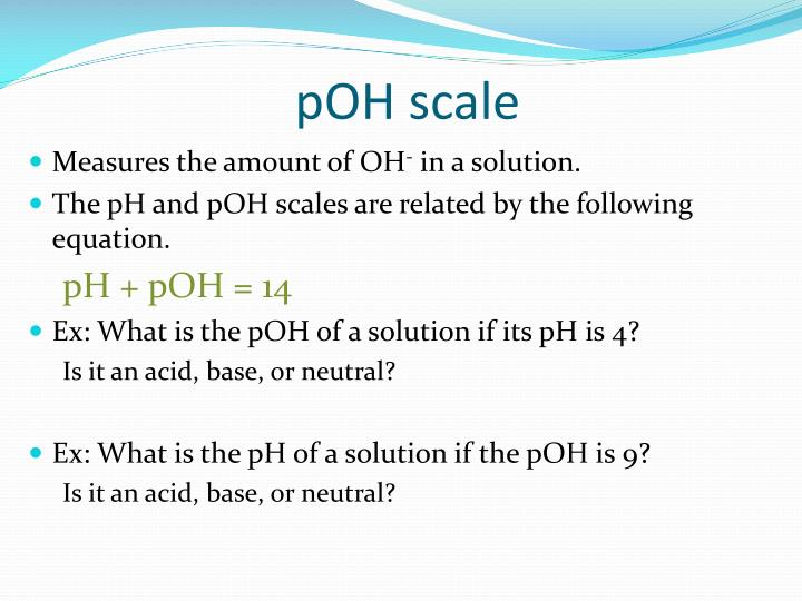 pOH scale