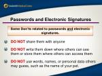 passwords and electronic signatures1