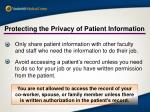 protecting the privacy of patient information