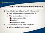 what is protected under hipaa