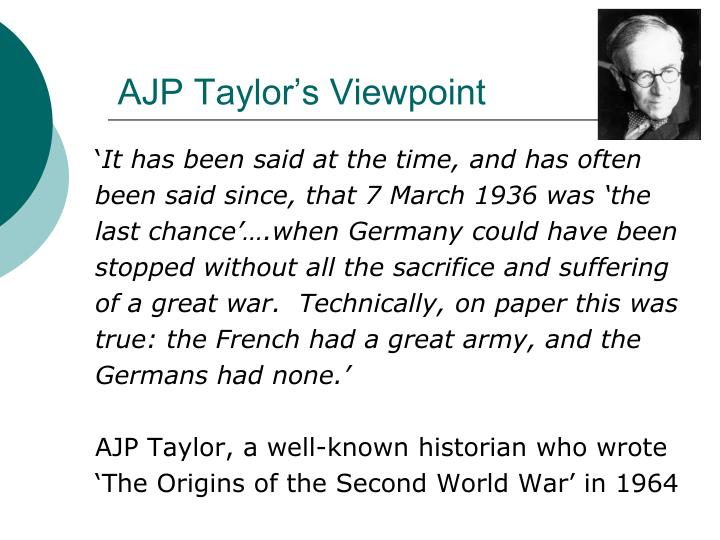 AJP Taylor's Viewpoint
