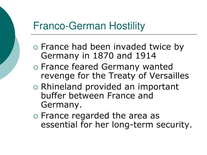 Franco-German Hostility