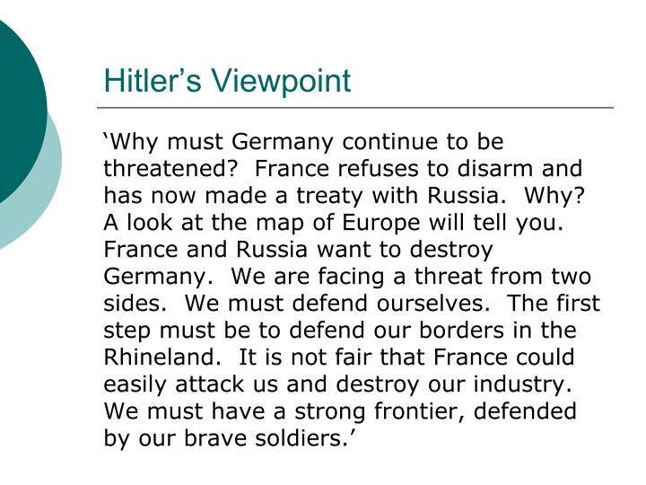 Hitler's Viewpoint