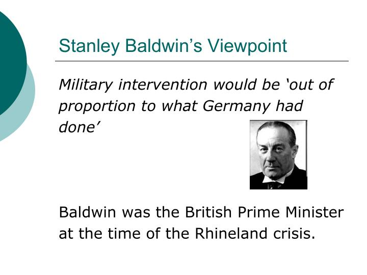 Stanley Baldwin's Viewpoint