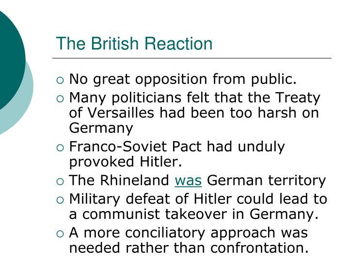 The British Reaction