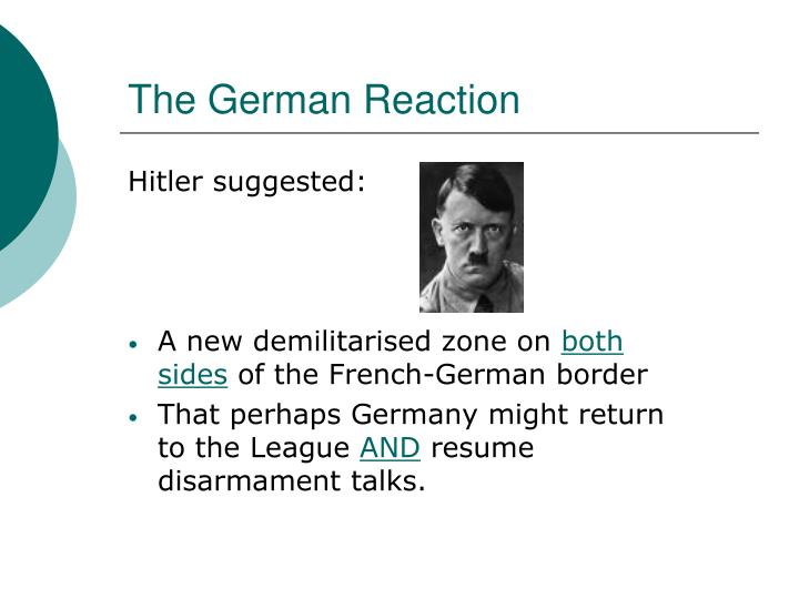 The German Reaction