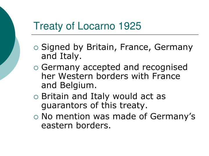 Treaty of Locarno 1925
