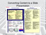converting content to a slide presentation1