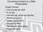 converting content to a slide presentation17