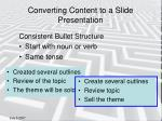 converting content to a slide presentation4