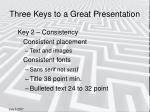 three keys to a great presentation3