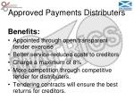 approved payments distributers