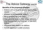 the advice gateway contd