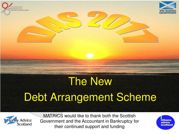 the new debt arrangement scheme n.