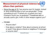 measurement of physical violence by others than partners