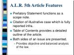 a l r 5th article features