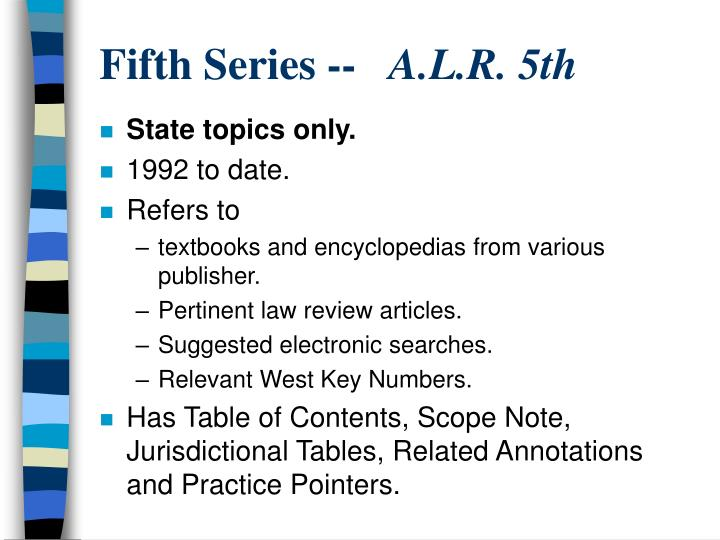 Fifth Series --