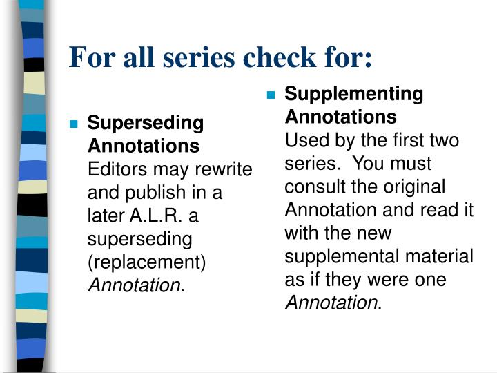 Superseding Annotations