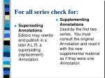 for all series check for