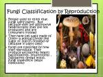 fungi classification by reproduction
