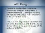 alu design