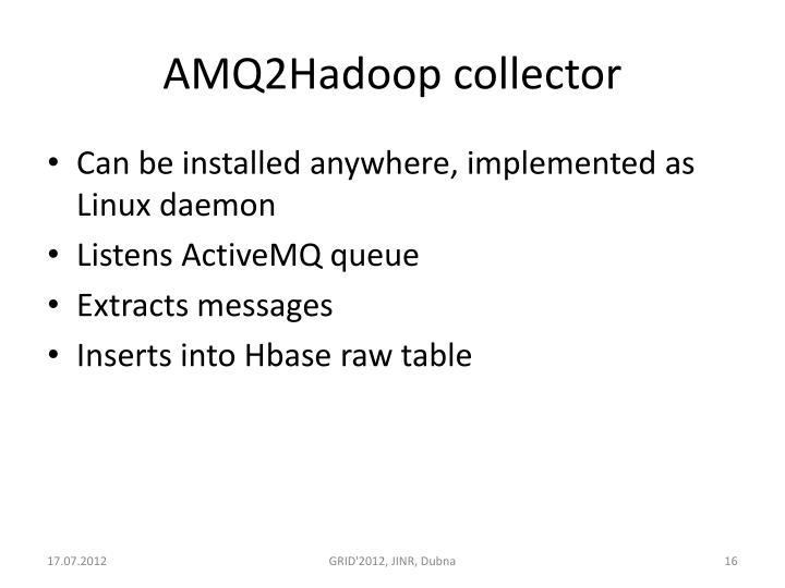 AMQ2Hadoop collector