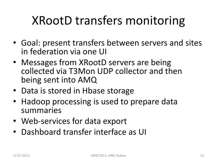 XRootD transfers monitoring